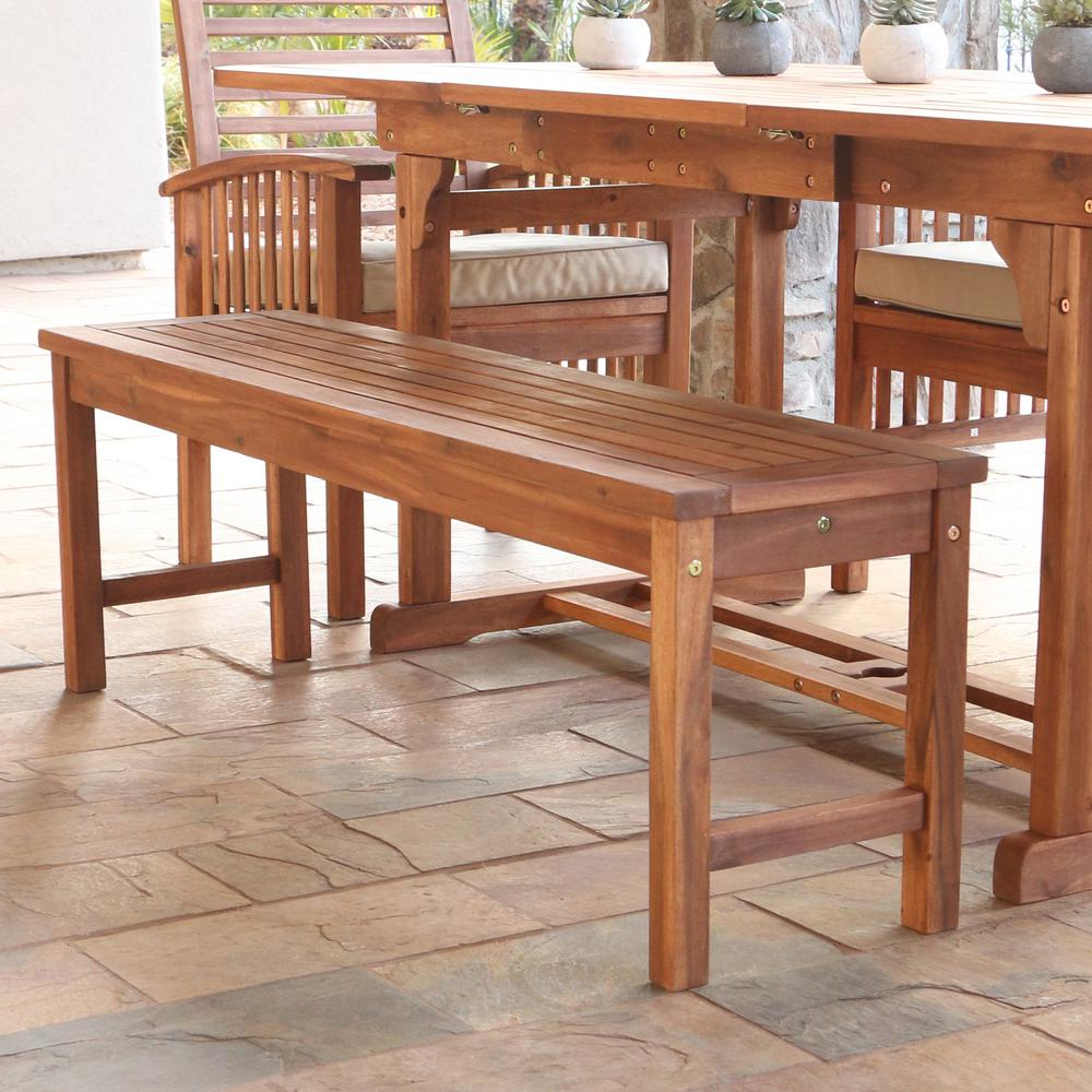 Home Furniture Company: Walker Edison Furniture Company Boardwalk Brown Acacia