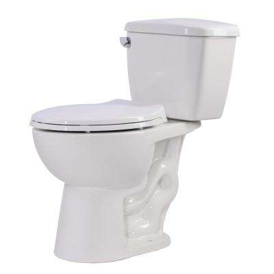 Author 2-piece 1.28 GPF Single Flush Elongated Toilet in White