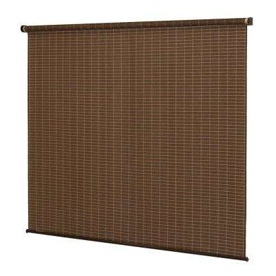Coolaroo- Exterior Roller Shade - 96 in. W x 72 in. L, Alderwood
