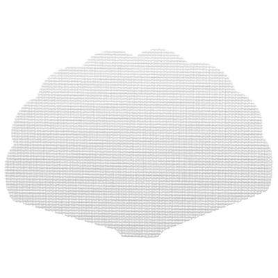 Fishnet Shell Placemat in White (Set of 12)