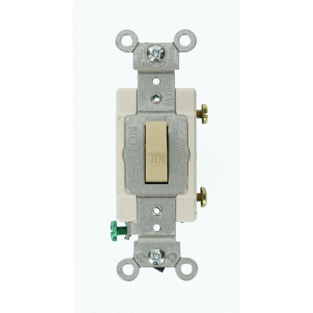 New Cooper Ivory DOUBLE Wall Toggle Light Switch Duplex Toggle 15A 120//277V 275V