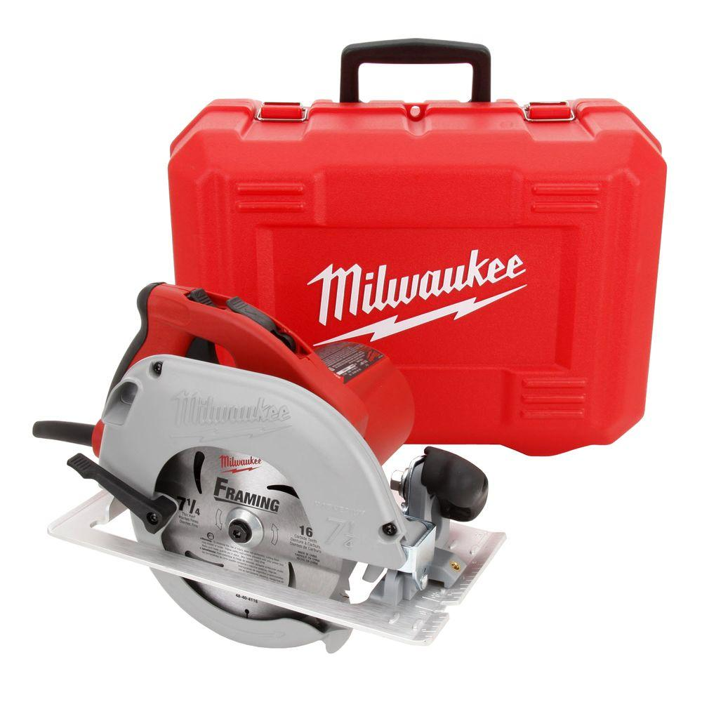 Milwaukee 15 amp 7 14 in tilt lok circular saw with hard case 6390 milwaukee 15 amp 7 14 in tilt lok circular saw with greentooth Image collections