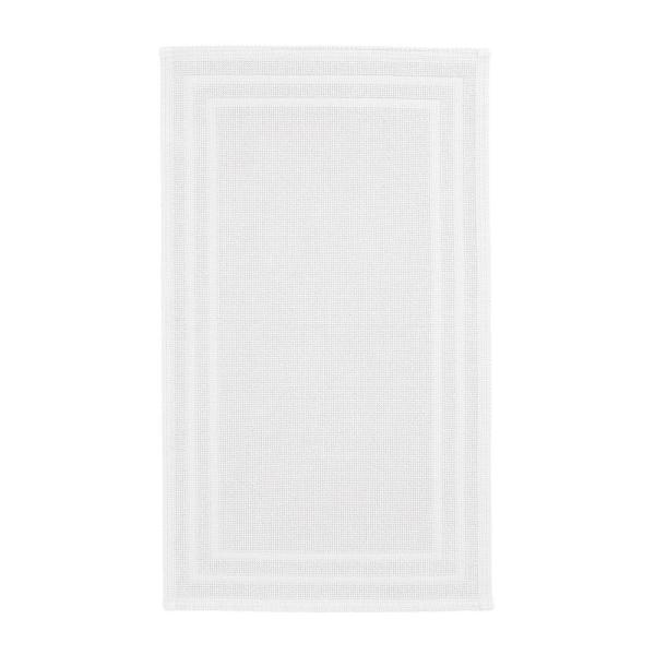 Legends Sterling White 30 in. x 50 in. Cotton Reversible Bath Mat