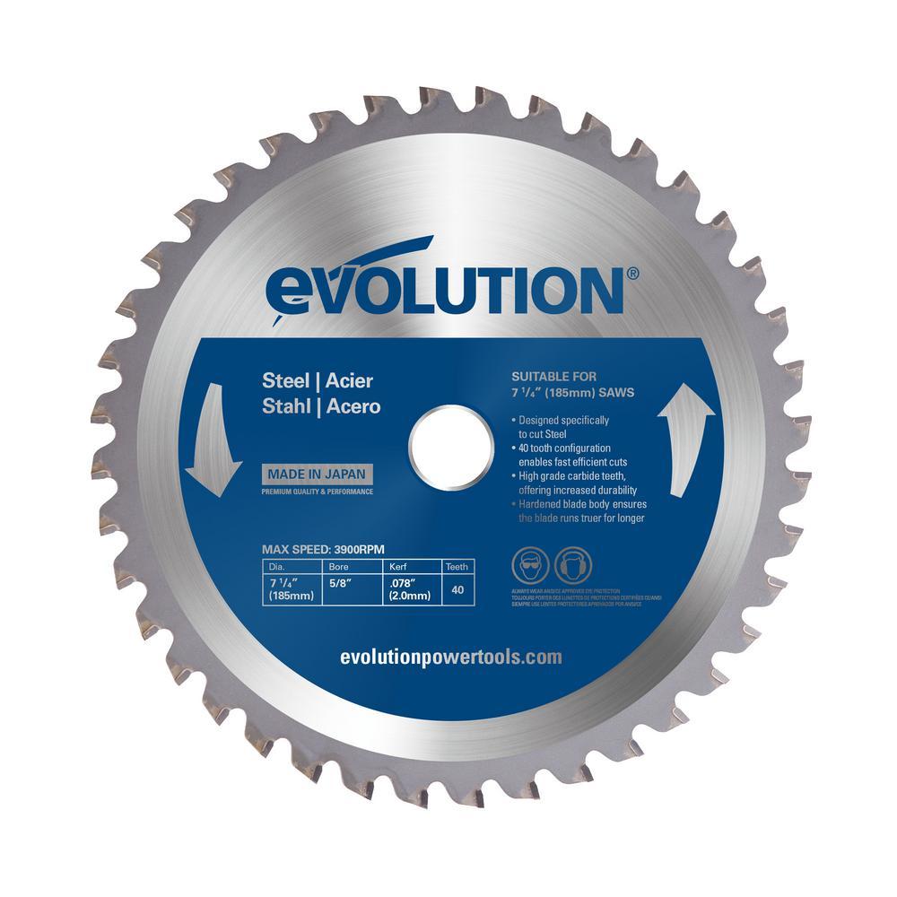 7-1/4 in. 40-Teeth Mild Steel Cutting Saw Blade