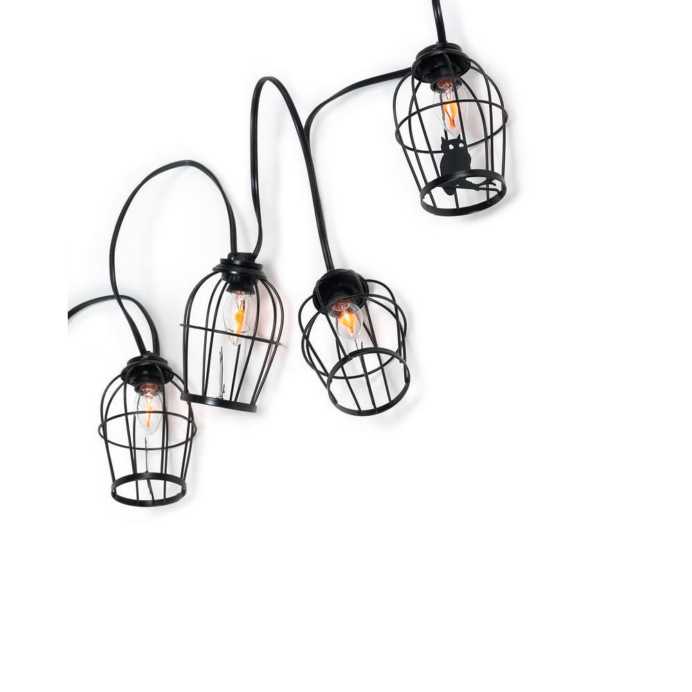 10-Light C7 Caged Owl Light String