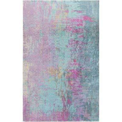 Watercolor Industrial Purple Area Rugs Rugs The Home Depot