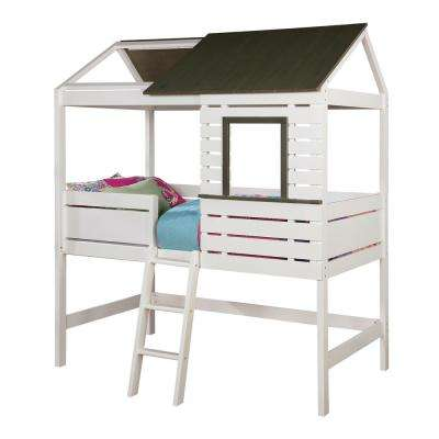 Farem Twin Bed in White and Gray