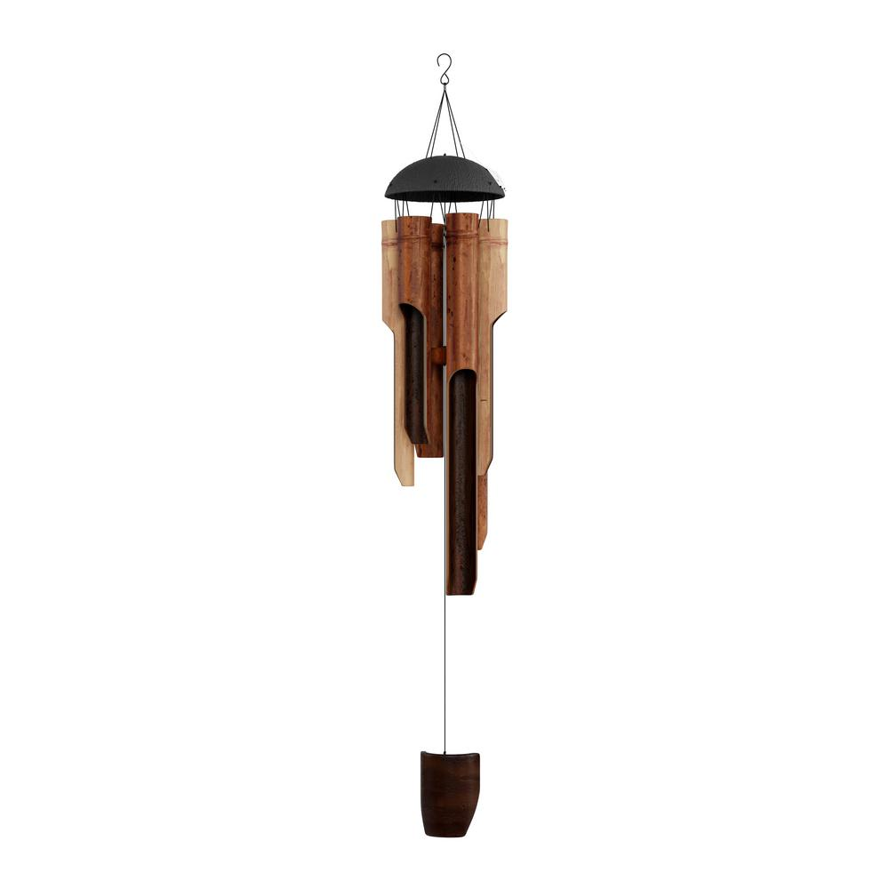86ca23658 Pure Garden 38 in. Handcrafted and Tuned Bamboo Wind Chime-HW1500083 ...