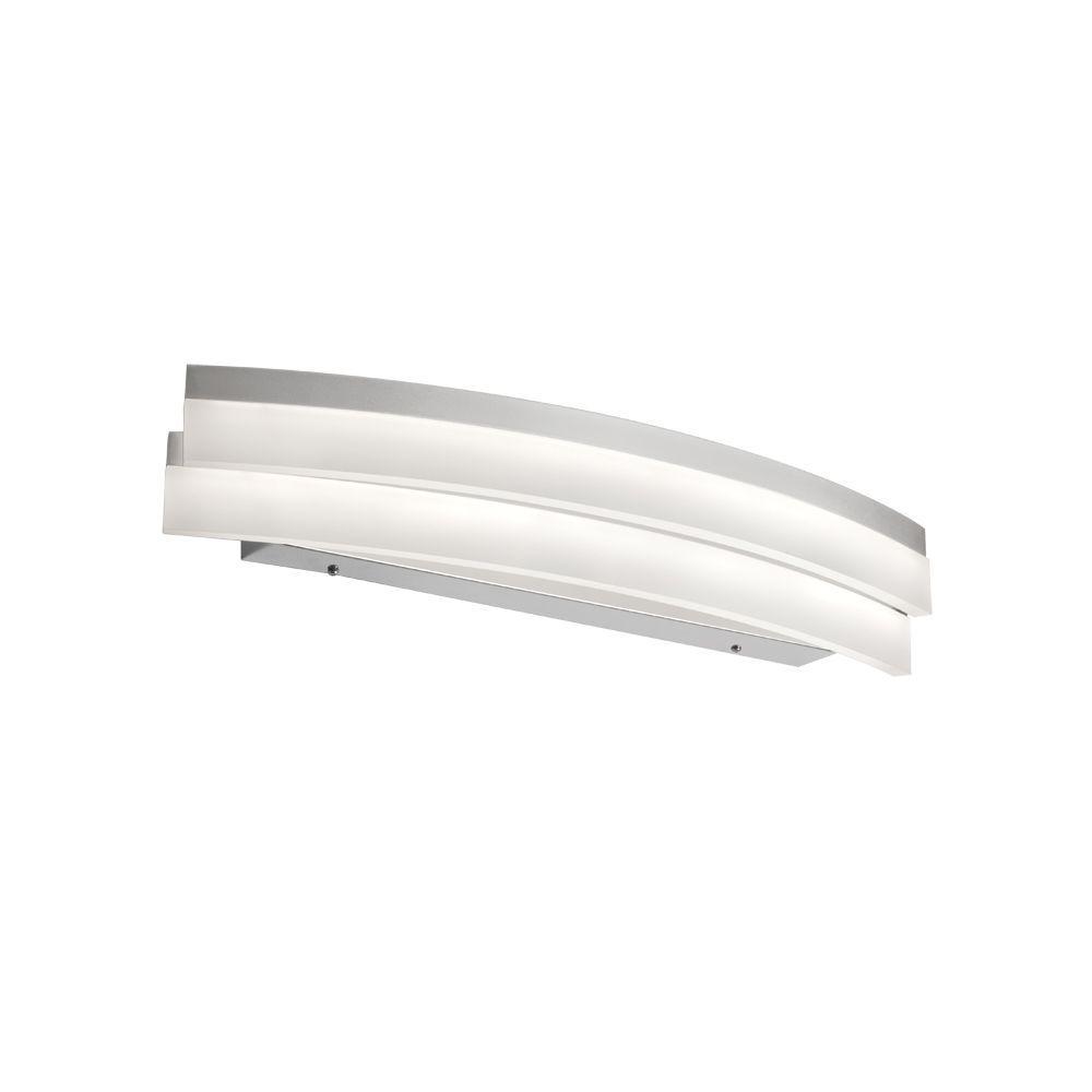 Tech Lighting Home Depot: Radionic Hi Tech Keplar 1-Light 26 In. Silver Vanity Light