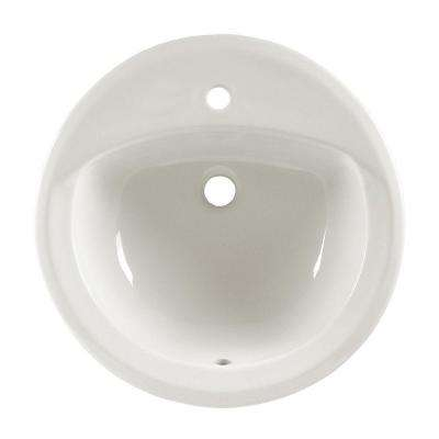 Rondalyn Self-Rimming Bathroom Sink in White
