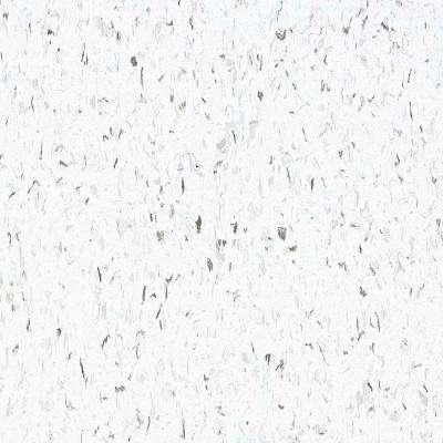 Take Home Sample - Standard Excelon Imperial Texture Classic White Vinyl Composition Commercial Tiles - 6 in. x 6 in.