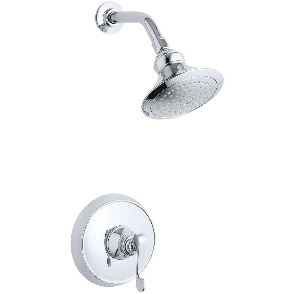 Revival 1-Spray 6.5 in. 2.5 GPM Fixed Shower Head with Scroll