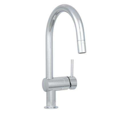 Minta Single-Handle Pull-Down Sprayer Kitchen Faucet in StarLight Chrome