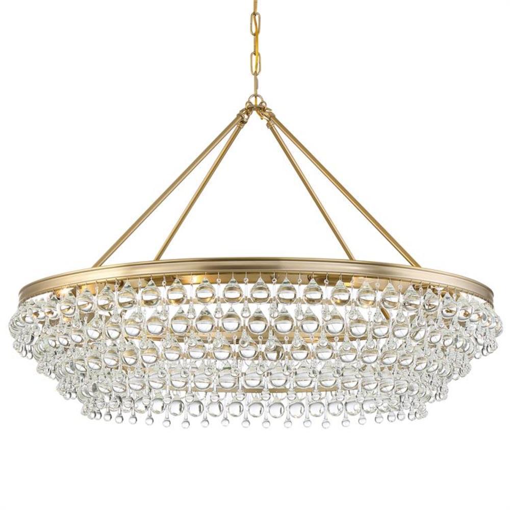 Calypso 8-Light Vibrant Gold Standard Chandelier