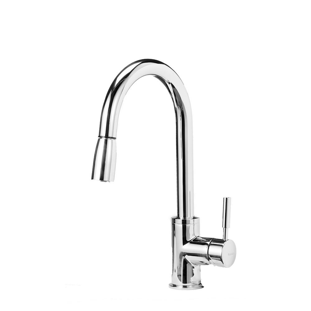 Blanco SONOMA 1.8 Single-Handle Pull-Down Sprayer Kitchen Faucet in ...
