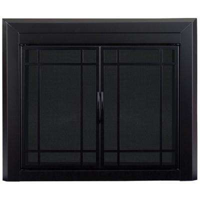 Easton Large Glass Fireplace Doors
