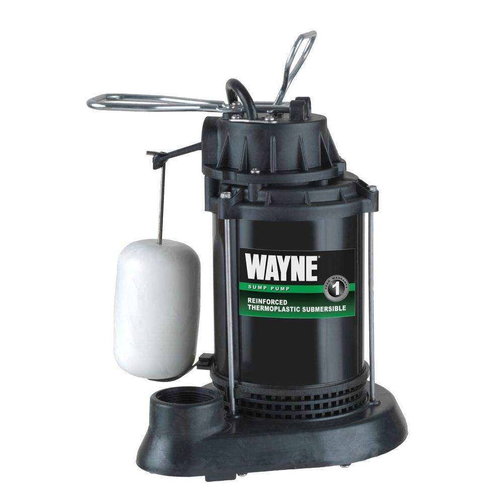 Wayne 1/3 HP Thermoplastic Sump Pump