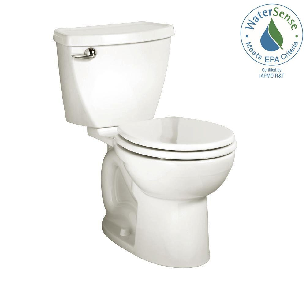 American Standard Cadet 3 Tall Height Complete 2 Piece 1.28 GPF Single  Flush Round Toilet