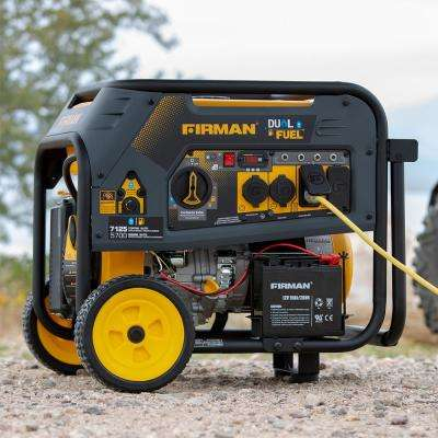 7125/5700-Watt 120/240V Electric Start Gas or Propane Dual Fuel Portable Generator CARB Certified With Wheel Kit