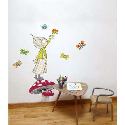 """(58 in x 57 in) Multi-Color """"Jules"""" Kids Wall Decal"""