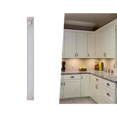 9 in. LED Warm White 2700K, Dimmable, 1-Bar Under Cabinet Lights Kit with Hands-Free On/Off (Tool-Free Plug-in Install)