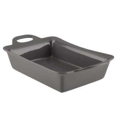 9 in. x 13 in. Gray Ceramics Rectangular Baker