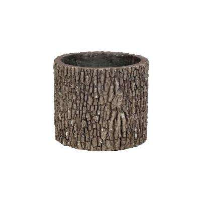 Vertical 13 in. H Oak Bark Color Polyurethane Planter