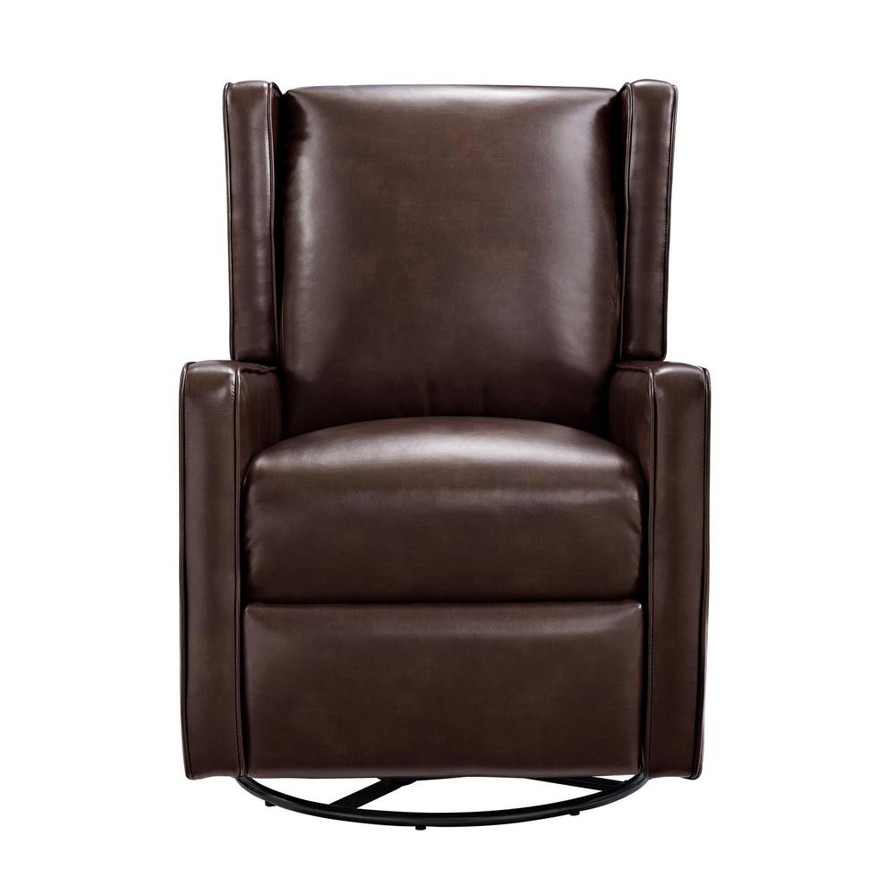 Millie dark brown swivel gliding recliner