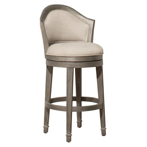 Hillsdale Furniture Monae Distressed Dark Gray 26 in. Swivel Counter Stool