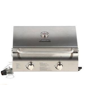 Click here to buy Cuisinart 2-Burner Professional Portable Propane Gas Grill by Cuisinart.
