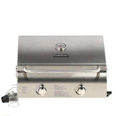 2-Burner Professional Portable Propane Gas Grill