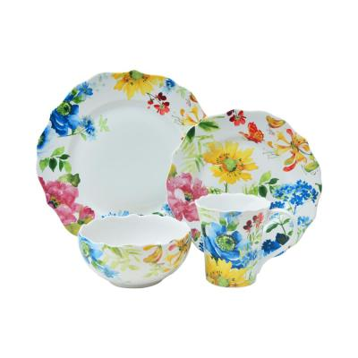 Annalise Spring Mixed 16-Piece Dinnerware Set