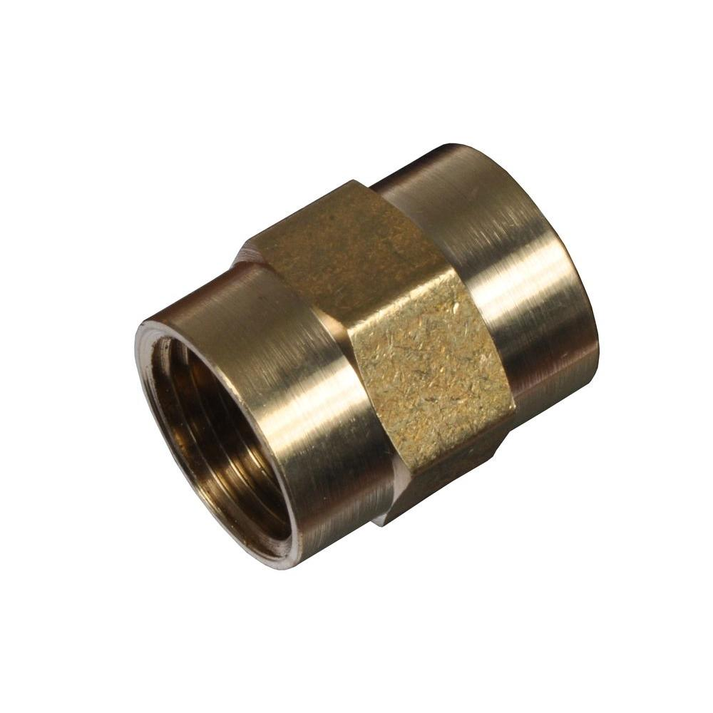Cerro 1/4 in. x 1/4 in. Lead-Free Brass FPT x FPT Pipe Coupling-DISCONTINUED