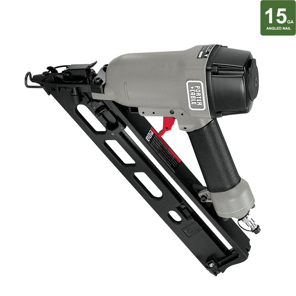 Porter-Cable Pneumatic 15-Gauge Strip Angled Finish Nailer-DISCONTINUED