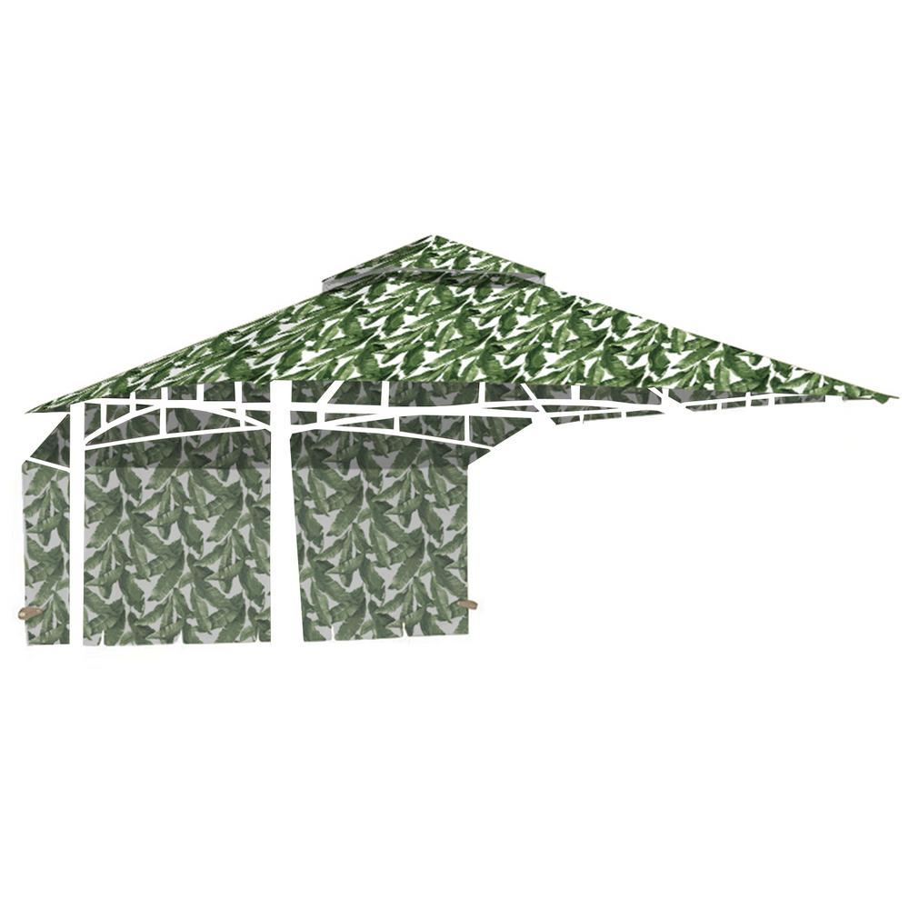 Standard 350 Palm Replacement Canopy for 10 ft. x 10 ft. Garden House with Awning