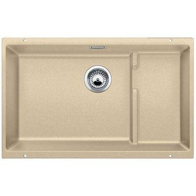 PRECIS Cascade Undermount Granite Composite 29 in. Single Bowl Kitchen Sink in Biscotti