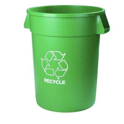 20 Gal. Green Imprinted Recycle Trash Can (6-Pack)