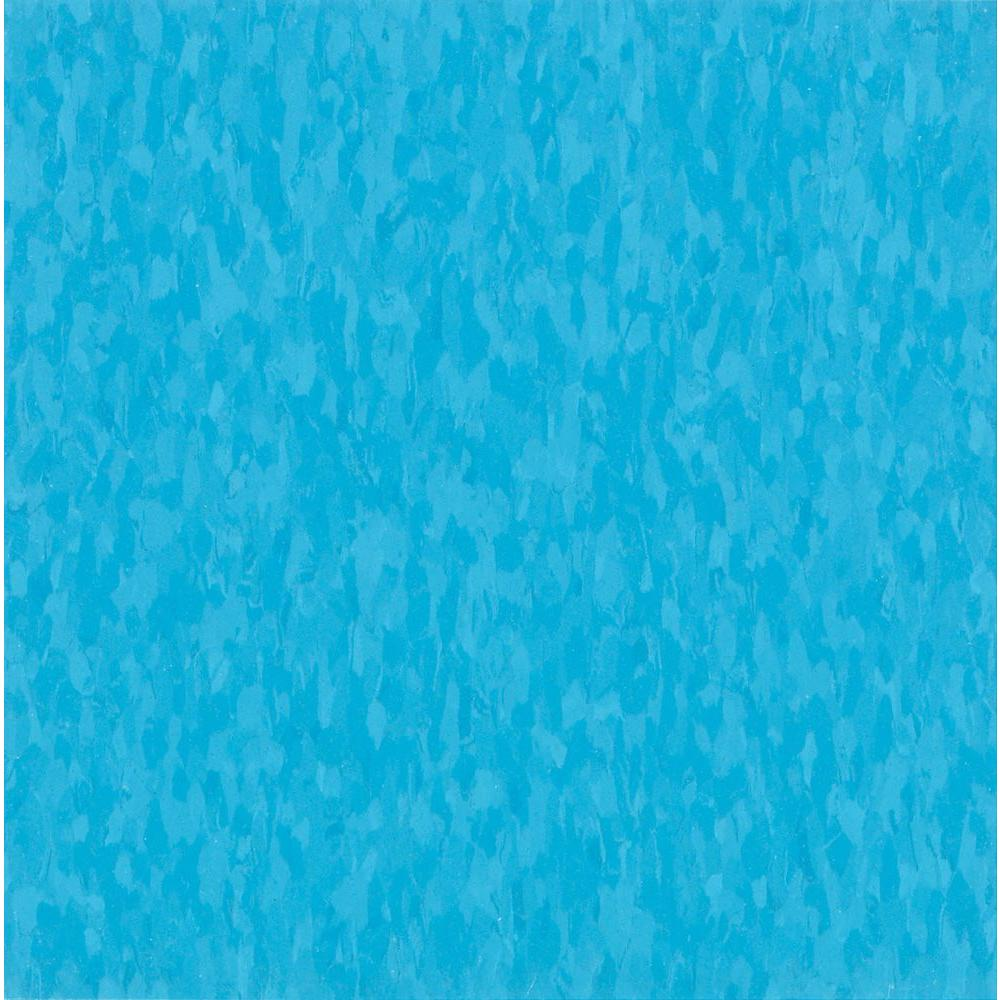 Imperial Texture VCT 12 in. x 12 in. Bikini Blue Commercial