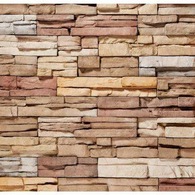 12 in. x 2.5 in. Manufactured Stone Prostack Poinset Flat Siding 5 sq. ft.