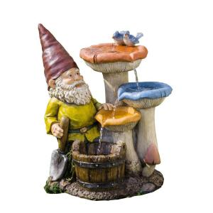 Jeco Gnome Garden Fountain by Jeco