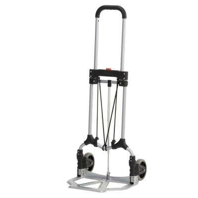 160 lb. Capacity MCI Steel Folding Hand Truck in Silver