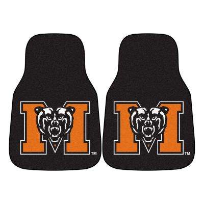 NCAA Mercer University Heavy Duty 2-Piece 18 in. x 27 in. Nylon Carpet Car Mat