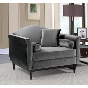 Karina Dark Gray Contemporary Style Living Room Chair