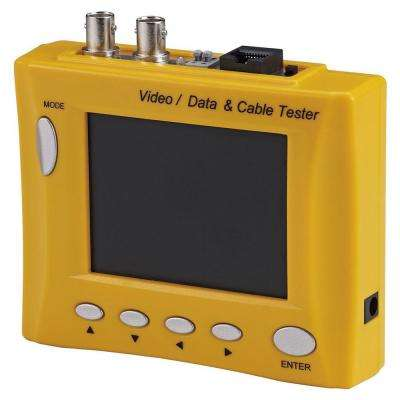 Multi-Functional CCTV Tester with 3.5 in. LCD Monitor and Signal Meter