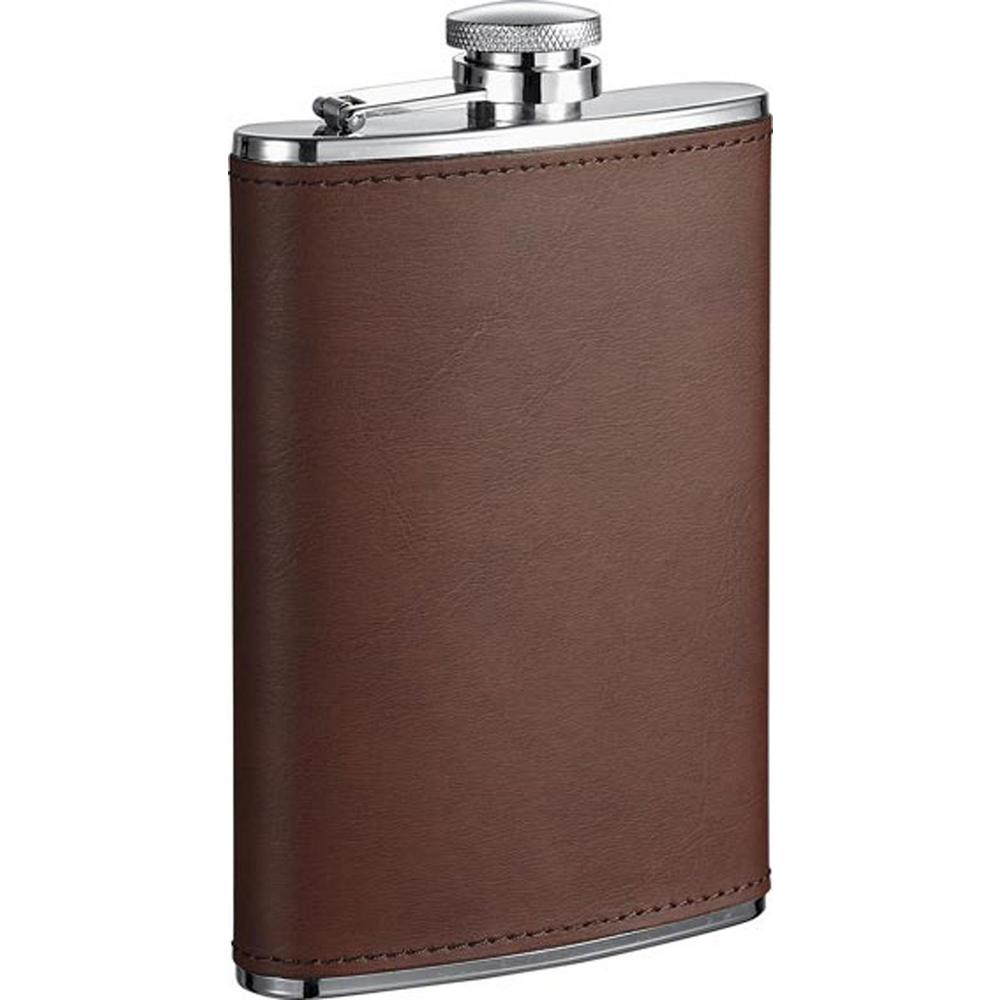 Kenton Brown Leather Liquor Flask
