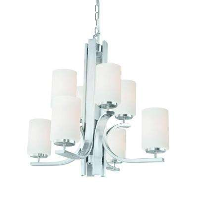 Pendenza 8-Light Brushed Nickel Chandelier