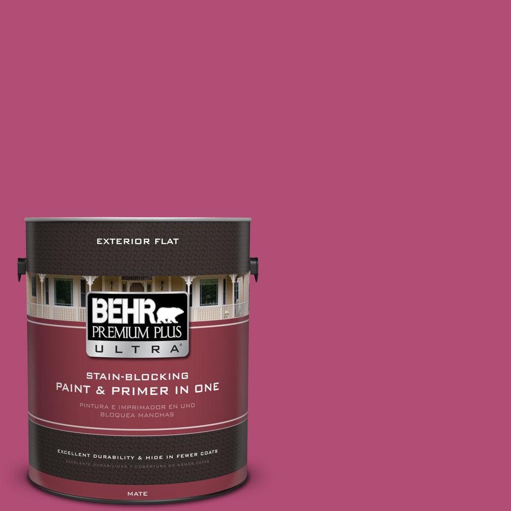 BEHR Premium Plus Ultra 1-gal. #P120-6 Diva Glam Flat Exterior Paint ...