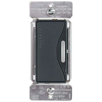 Aspire Single-Pole Multi-Location Master Dimmer Light Switch, Silver Granite