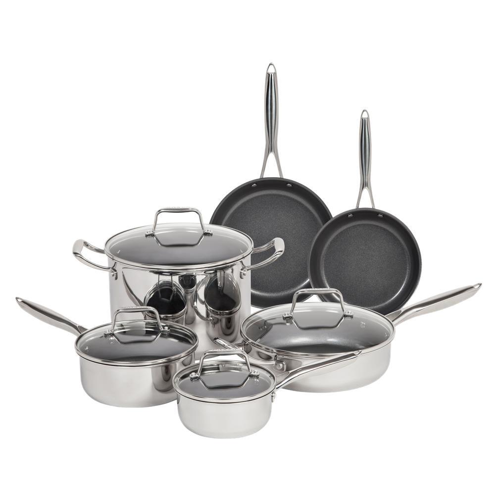 MAKER Homeware 10 Piece Stainless Steel Cookware Set 591860