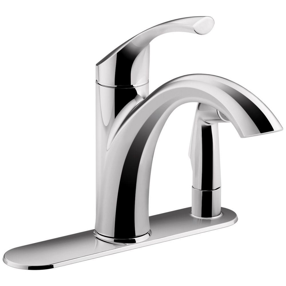 KOHLER Mistos Standard Single-Handle Pull-Out Sprayer Kitchen Faucet ...